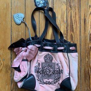 Juicy Couture Vintage Velour Hobo Bag